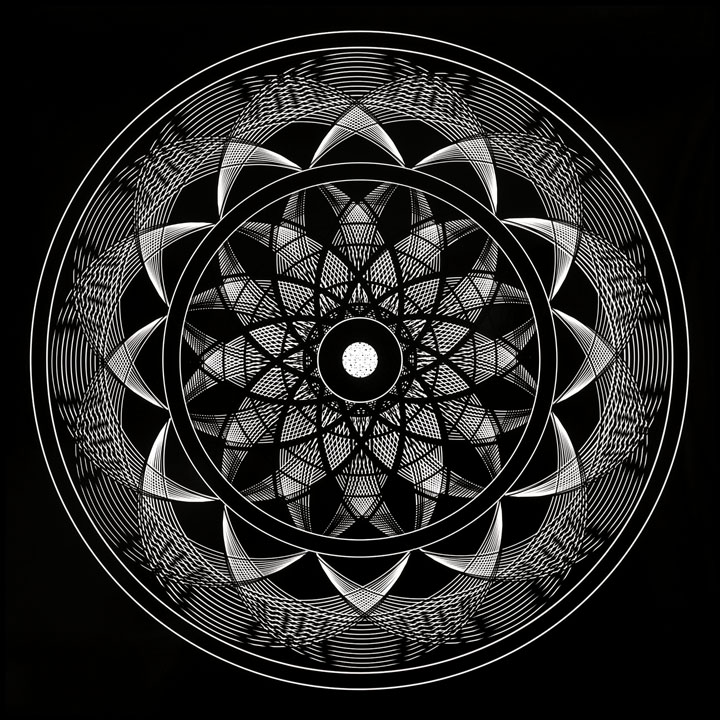 Sacred Geometry Mandala Art Flower Of Life Meditation Map